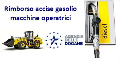 Rimborso accise gasolio macchine operatrici